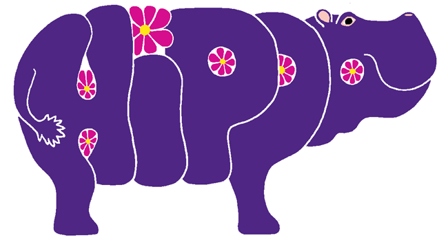 flower hippo design