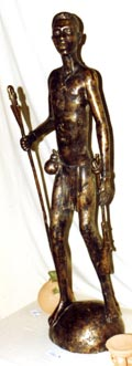 Francis Boateng's bronze sculpture of the disarmed warrior