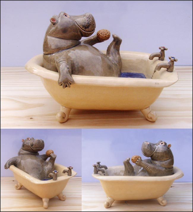 hippo in the bath