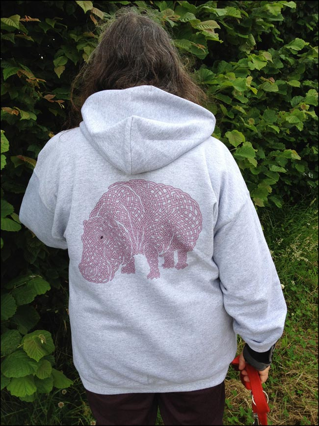 celtic knotwork hippo sweatshirt